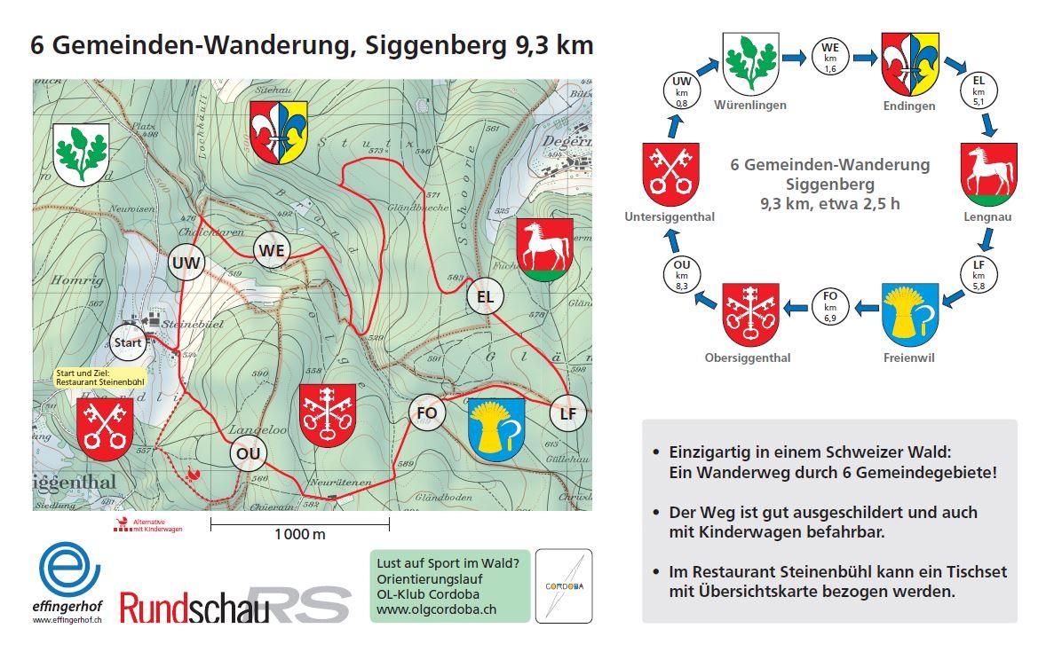 6 Gemeinden-Wanderung auf dem Siggenberg