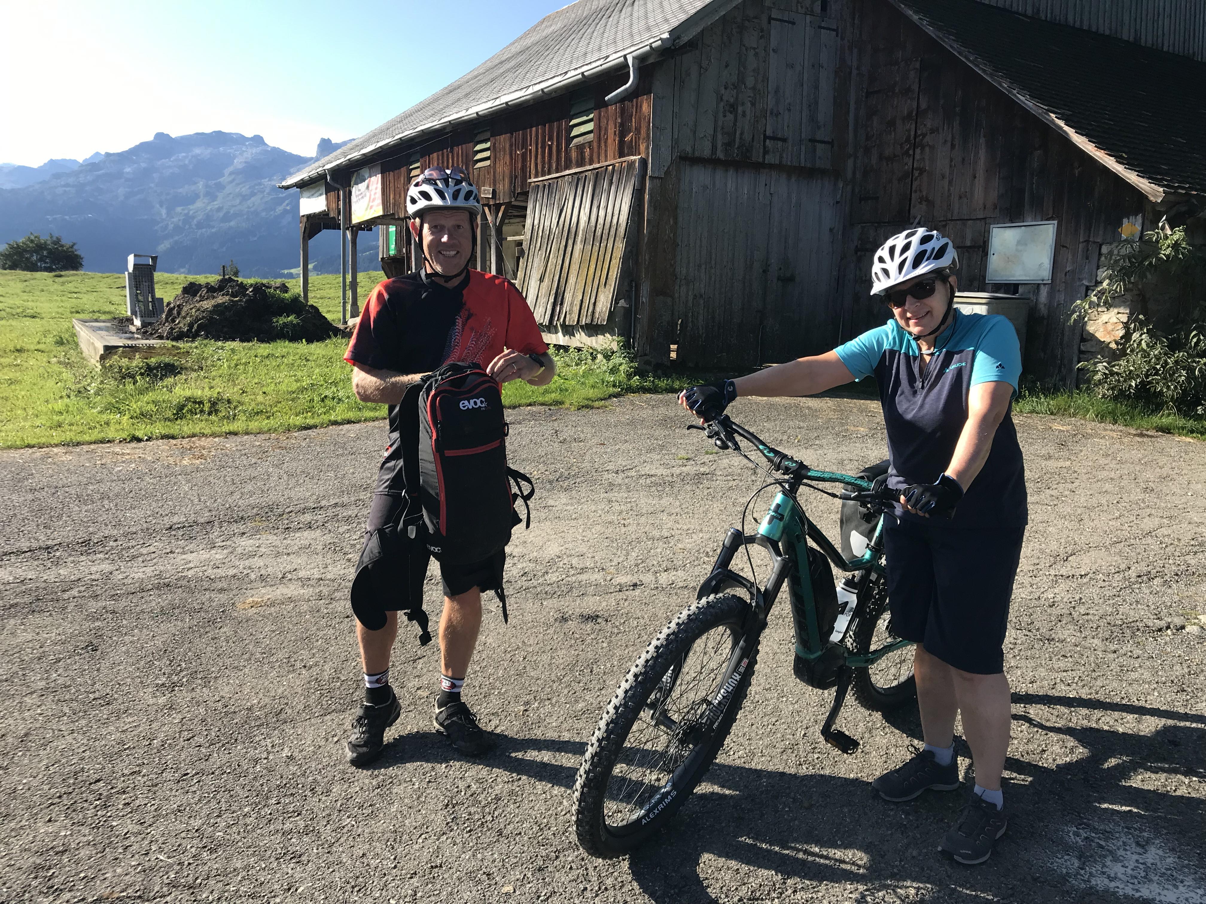 Biketour mit Loschi zum und vom Oberberg